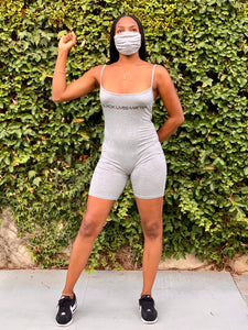BLM Bodysuit with Facemask (Gray)
