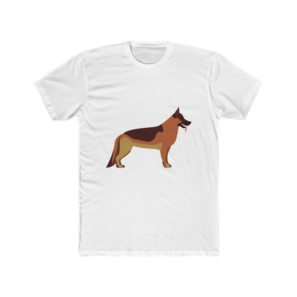 German Shepherd Men's Cotton Crew Tee