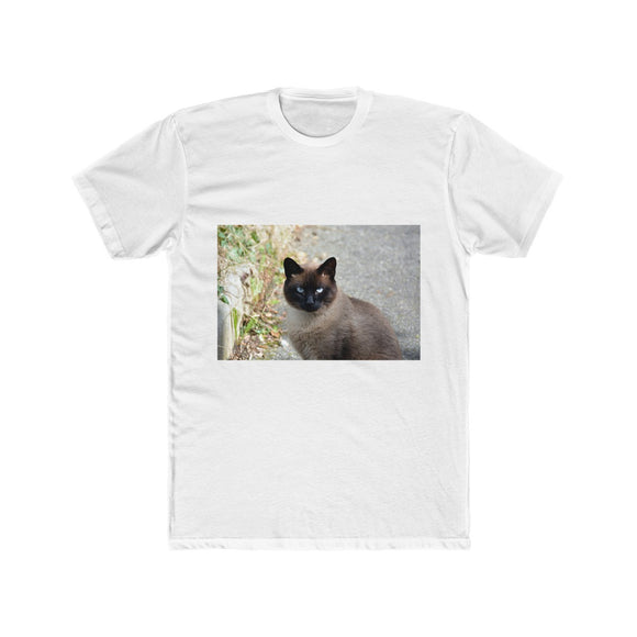 Siamese Cat Men's Cotton Crew Tee