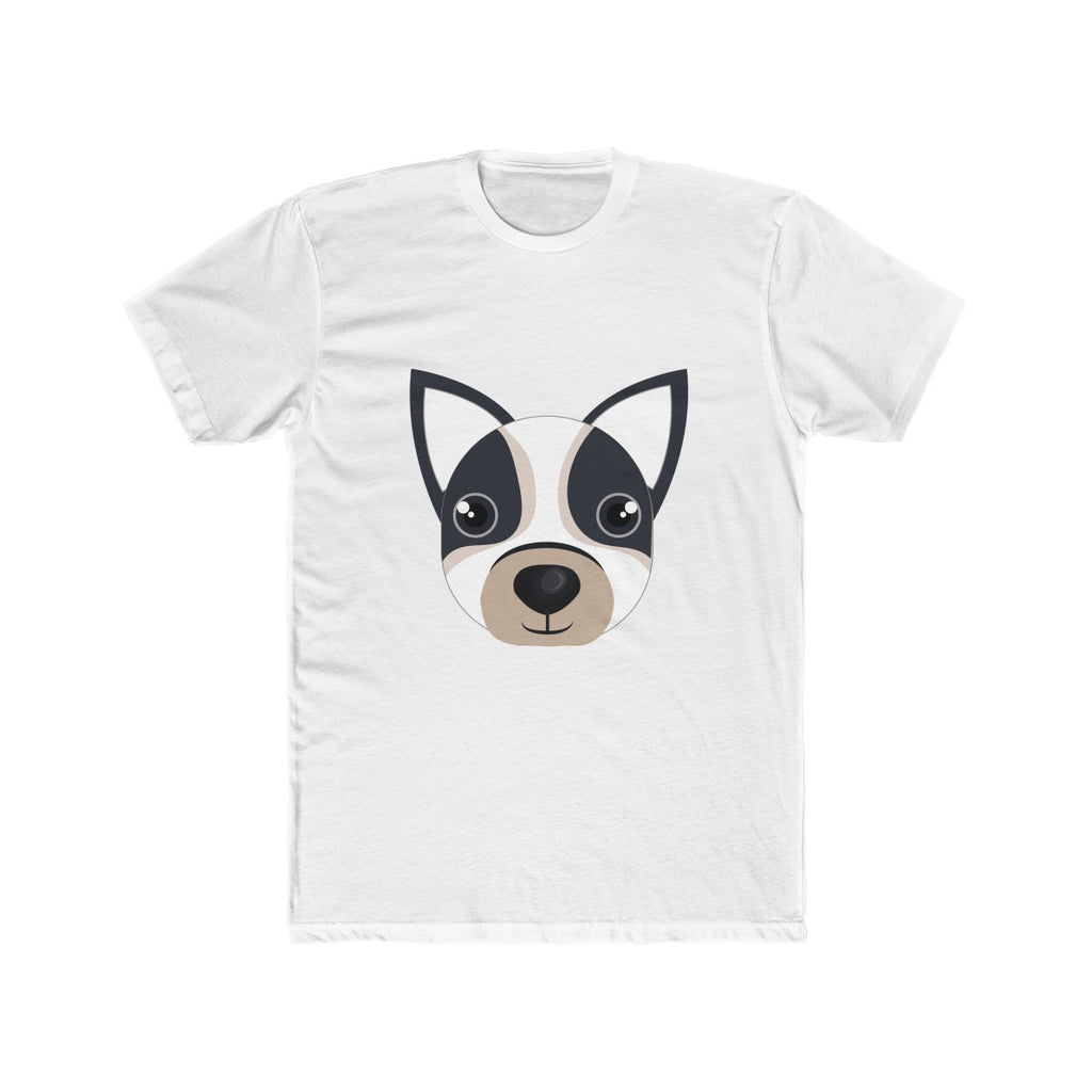 Boston Terrier Men's Cotton Crew Tee