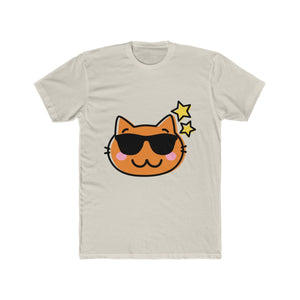 Cool Cat in Sunglasses Men's Cotton Crew Tee Shirt