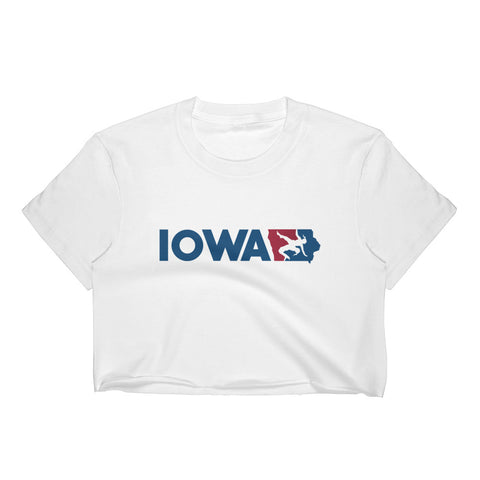 Iowa Girls Wrestling Cropped Tee