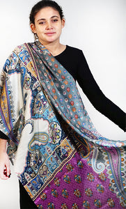 SCOL | Silk Paisley Collage Scarf