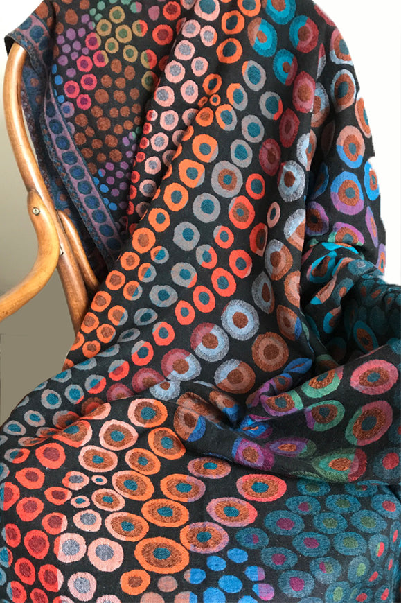 SPOT-M | Spot Wool Throw - multi