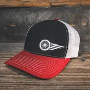 HAT - BLACK-RED-WHITE - South Main Iron
