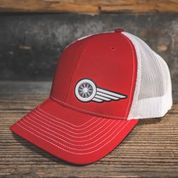 HAT - RED-WHITE - South Main Iron