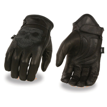 MENS REFLECTIVE LEATHER GLOVES