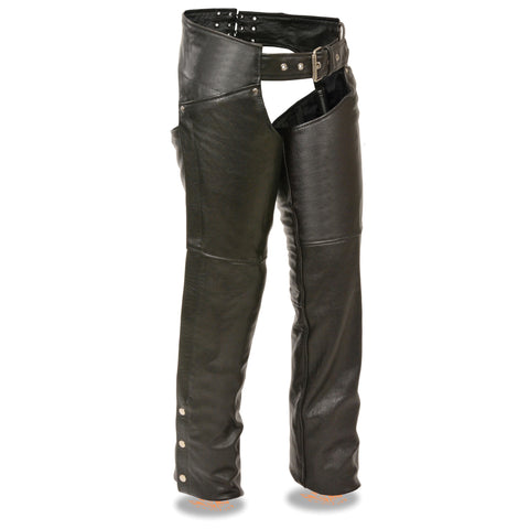 WOMENS CLASSIC LEATHER CHAPS - South Main Iron
