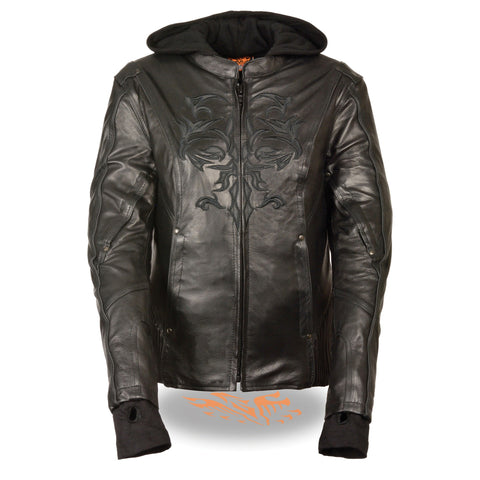 WOMENS TRIBAL LEATHER JACKET - South Main Iron
