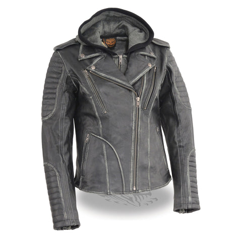 WOMENS LEATHER JACKET - South Main Iron