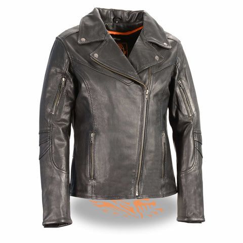 WOMENS BELTLESS LEATHER JACKET - South Main Iron