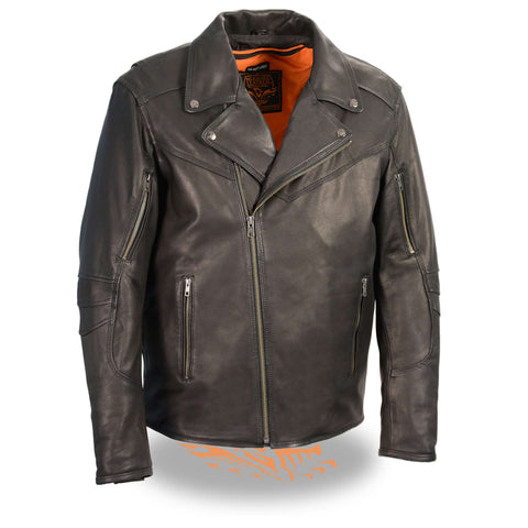 MENS BELTLESS LEATHER JACKET - South Main Iron