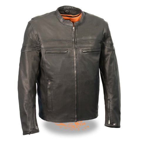 MENS LIGHTWEIGHT SPORTY LEATHER JACKET - South Main Iron