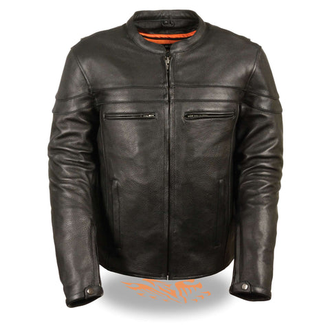 MENS SPORTY LEATHER JACKET - South Main Iron