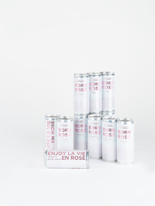 Canned BORN ROSÉ Bubbles