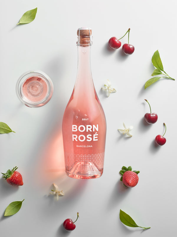 6 bottles of BORN ROSÉ BRUT Organic + gift: bottle cap