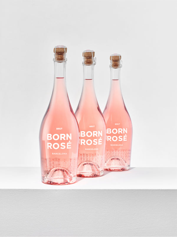 3 bottles of BORN ROSÉ BRUT Organic + gift: bottle cap