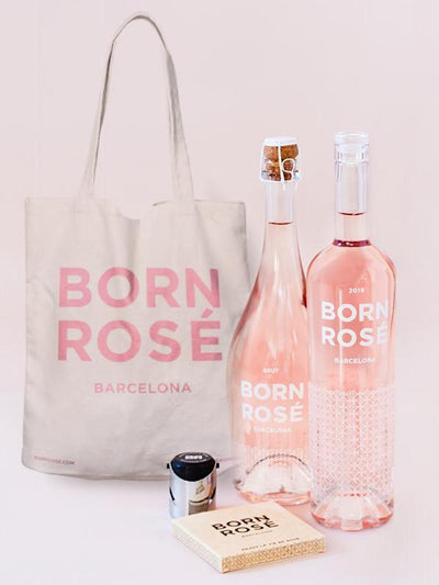 PACK ROSÉ LOVERS: Rosé, Brut, bottle cap, coasters, tote bag