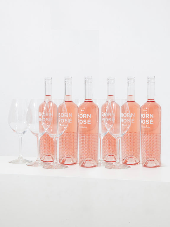 PACK ROSÉ & RIEDEL GLASSES: 6 ROSÉ bottles + 6 RIEDEL wine glasses