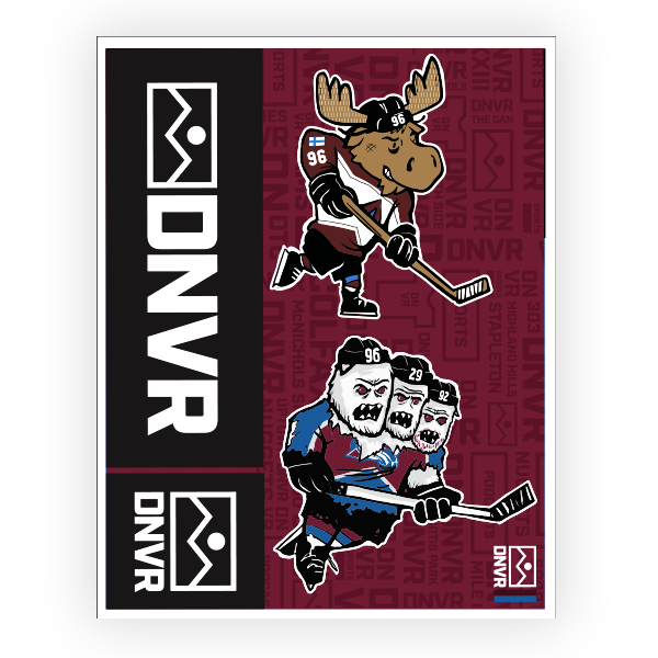 Colorado Avalanche sticker pack - DNVR Sports