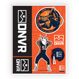 Broncos sticker pack - DNVR Sports