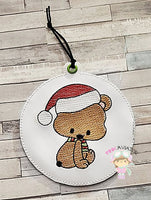 4x4 Christmas Sitting Bear Ornament