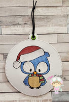 4x4 Christmas Blue Bird Ornament