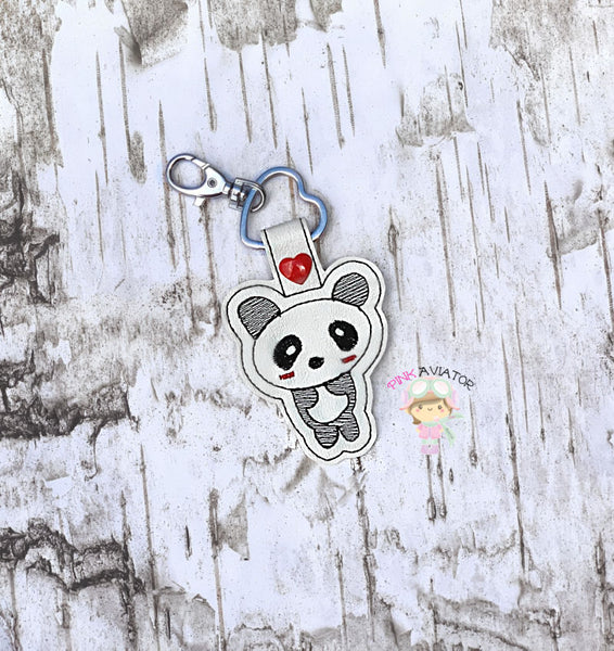 Tabitha's Panda Bear Snaptab and Eyelet