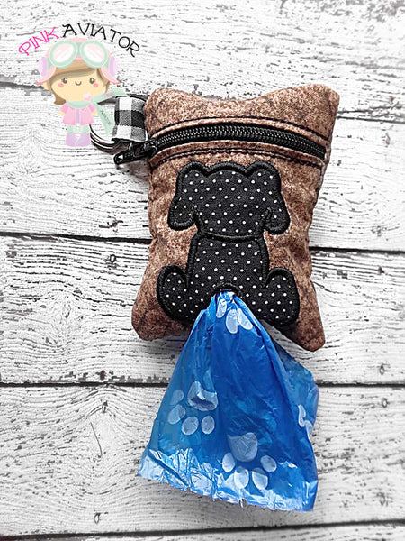 3x4 Doggie Applique Poo Bag