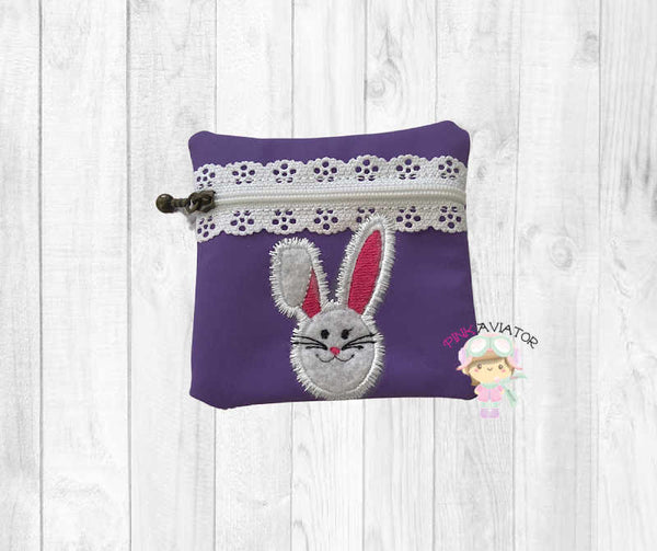 4x4 Applique Bunny Bag