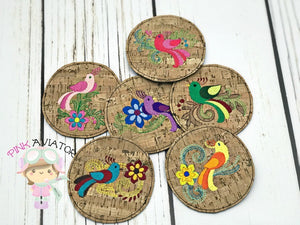 Paradise Birds Coaster Set 1-6