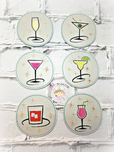 Mix Drink Coaster Set 5x7