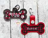 Applique Dog Bone Snaptabs and Eyelet