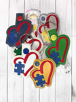 Autism Puzzle Love Snaptab and Eyelet