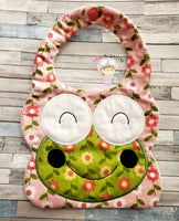 Big Eyed Frog Bib 2 Sizes