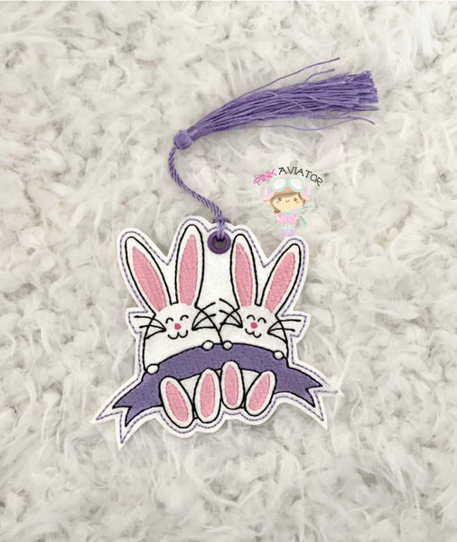 Bunny with Banner Bookmark