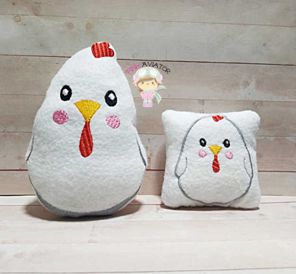 Cute Chicken Stuffie 3 Sizes