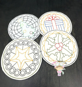 Christmas Coaster Set 1