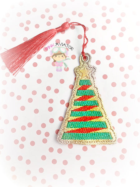 Christmas Tree Ribbon Bookmark