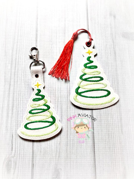 Christmas Tree Spiral Snaptab and Eyelet