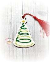 Christmas Tree Spiral Bookmark
