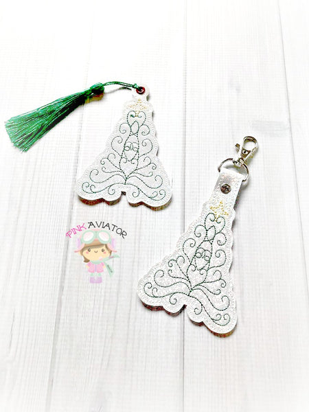 Christmas Tree Swirl Snaptab and Eyelet