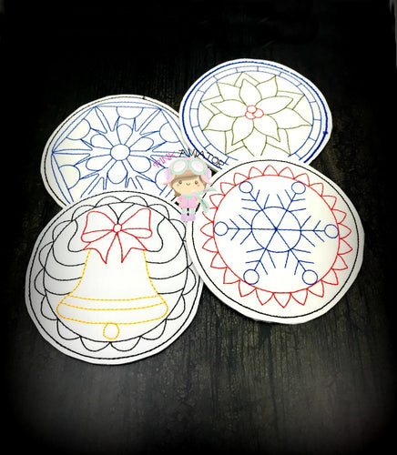 Christmas Coaster Set 2