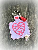 Fancy Heart Snaptab and Eyelet