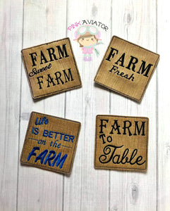 Farm Fresh Coaster Set