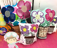 Flower Pot Stuffies 3 Sizes