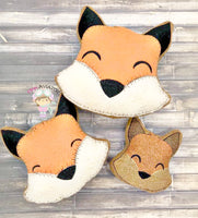 Fox Head Stuffies 3 sizes