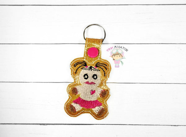 Girl Voodoo Doll Snaptab and Eyelet