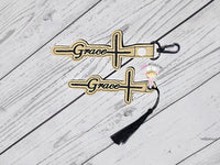 Grace Cross Snaptab and Eyelet