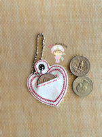 Heart Coin Keeper Eyelet